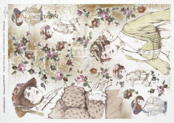 papel de arroz decoupage - sombreros retro y vintage*rýžový papír decoupage - klobouky retro a vintage*Reispapier Decoupage - Hüte Retro und Vintage