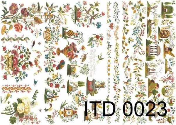 бумага для декупажа классическая D0023