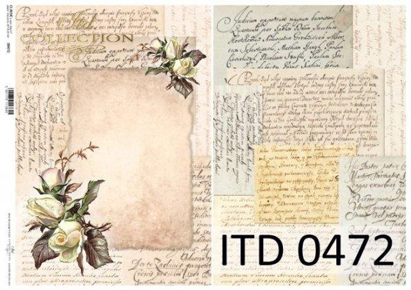 бумага для декупажа классическая D0472