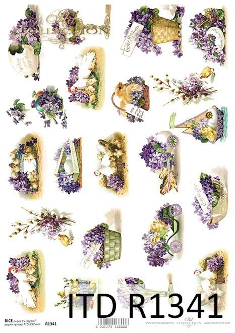 papier ryżowy decoupage Wielkanoc*decoupage rice paper Easter