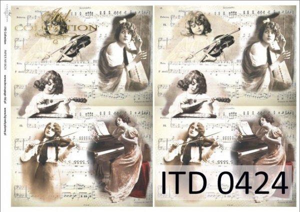 бумага для декупажа классическая D0424