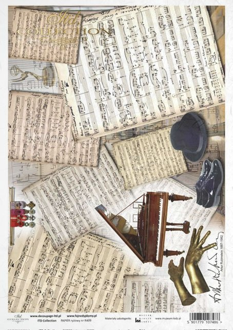 Arthur Rubinstein, notes, piano, hands, R409, Lodz, Lodz