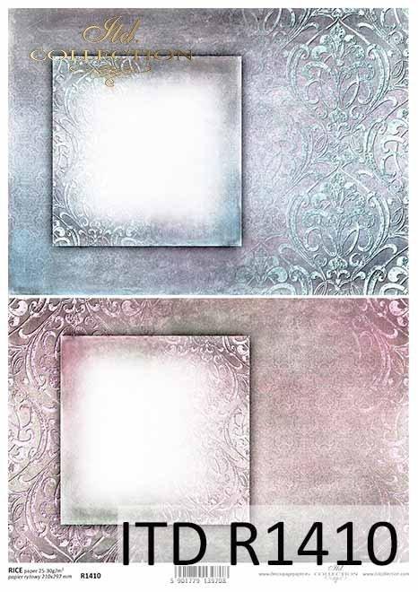 papier decoupage ornamenty, ozdobne ramki *paper decoupage ornaments, decorative frame