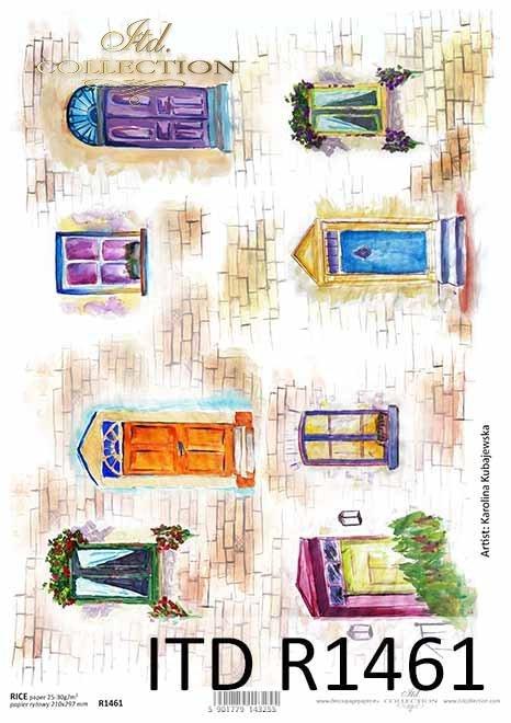 okna, drzwi, cegły, artysta współczesny Martyna Kubajewska*windows, doors, bricks, contemporary artist Martyna Kubajewska