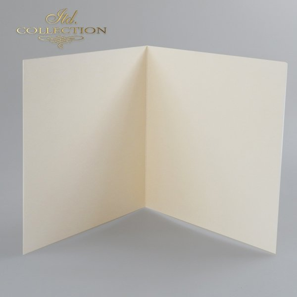 Заготовки для открыток BDK-012 кремовый цвет, слегка опалесцирующая бумага