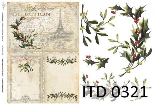 бумага для декупажа классическая D0321