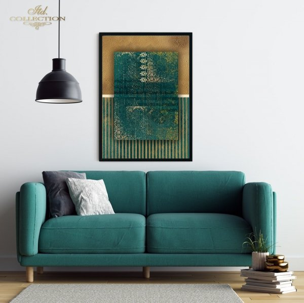 Papier-decoupage-dekory-ornamenty-stare-pismo-zielen-złoto-decors-ornaments-old-letter-gold-3