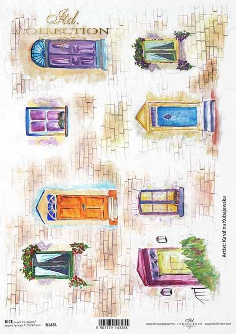ventanas, puertas, ladrillos, artista contemporáneo Martyna Kubajewska*Fenster, Türen, Ziegel, zeitgenössische Künstlerin Martyna Kubajewska*окна, двери, кирпич, современный художник Мартина Кубаевская