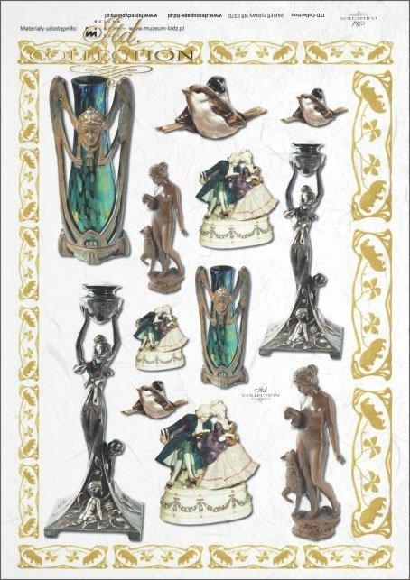 statuette, statuettes, vase, vases, figurines, R370, Łódź, Lodz, Muzeum Miasta Łodzi, The Museum of Lodz