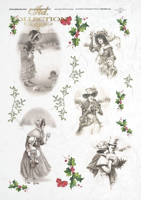 decoupage-scrapbooking-mixed-media-Christmas-winter-Romantic-romantic-retro-vintage