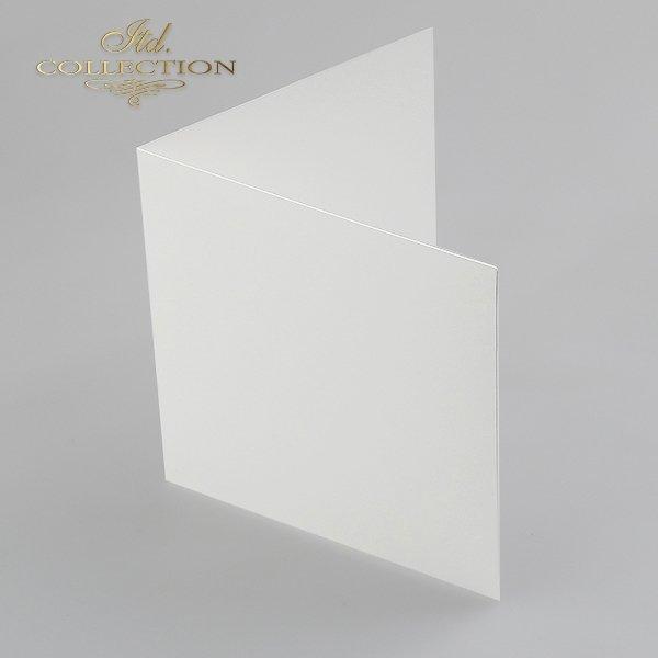 Заготовки для открыток BDK-008 натуральный белый