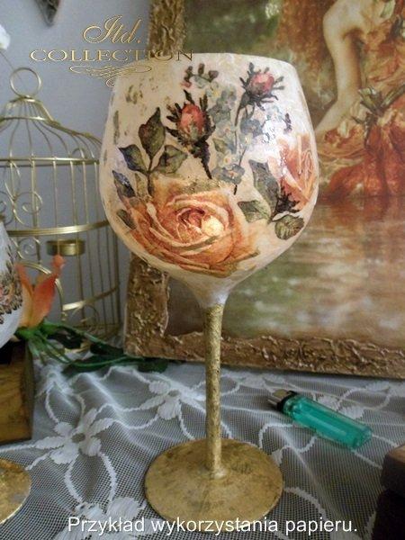 niezapominajki, róże, kwiaty, kwiatki, grafiki w stylu retro - example 01