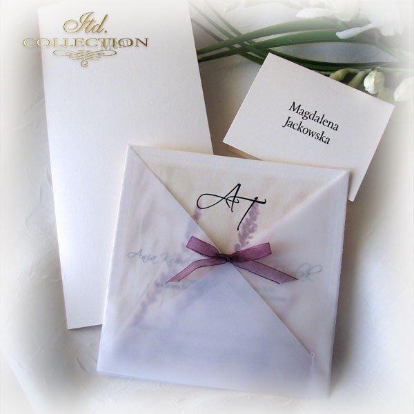 Einladungskarten / Hochzeitskarte 1721_Heideblumen
