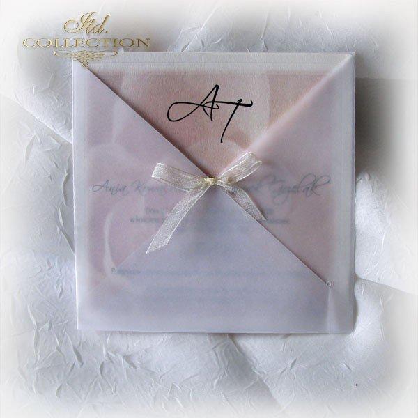 Einladungskarten / Hochzeitskarte 1721_Rose