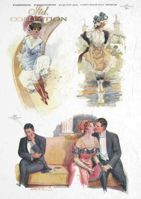 decoupage-randka-zakochani-kochankowie-miłość-schadzka-rendez-vous-retro-vintage-R0134