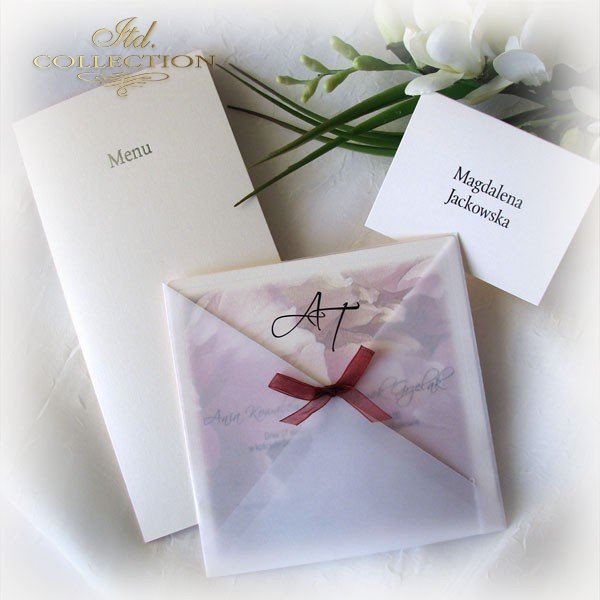 Einladungskarten / Hochzeitskarte 1721_Pfingstrose