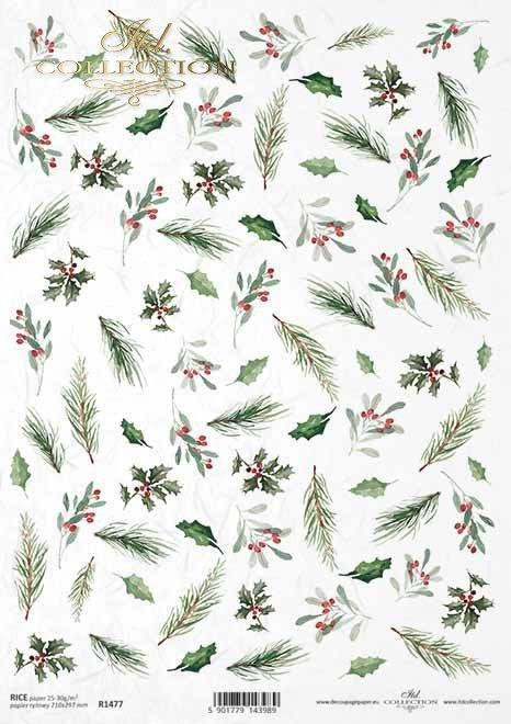 Navidad, arreglos florales de Navidad, acebo, rowan*Weihnachten, Weihnachtsblumenanordnungen, Stechpalme, Eberesche *Рожрождественские цветочные композиции, падуб, рябина