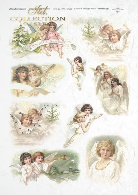 ITD-Collection-decoupage-scrapbooking-mixed-media-Christmas-angels