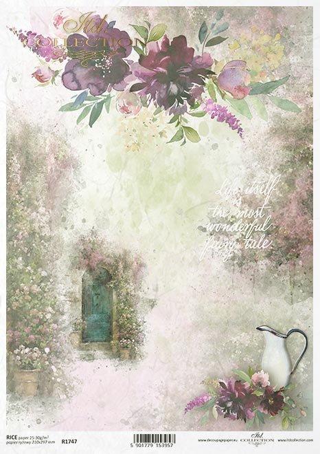 """""""Podróż marzeń""""-Tajemniczy ogród, drzwi, sentencje, cytaty, kwiaty..."""