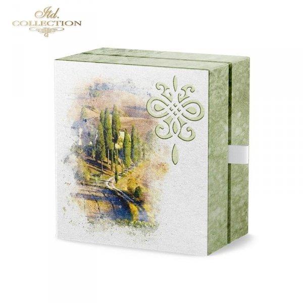example 02 - papier ryżowy decopuage Akwarele,romantyczne zakątki, wiejskie widoczki, domek w kwiatach, kwiaty w słońcu, lato