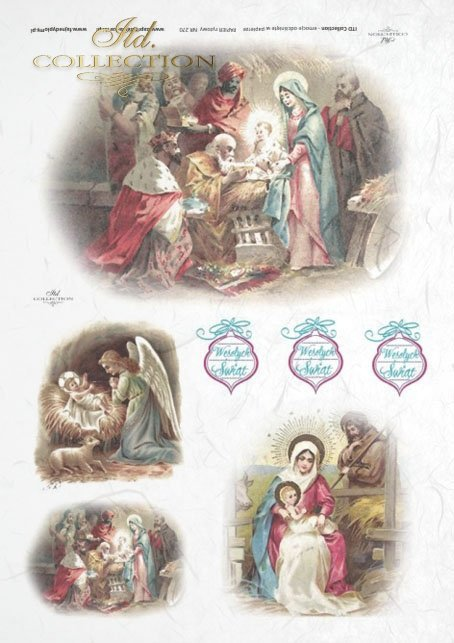 Christmas, Holy Familly, the three Magi, small stable, R270