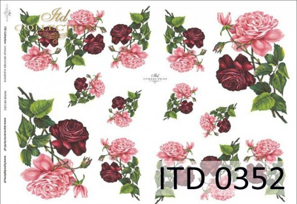 Decoupage paper ITD D0352