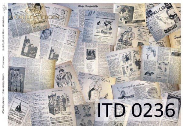 Decoupage paper ITD D0236M