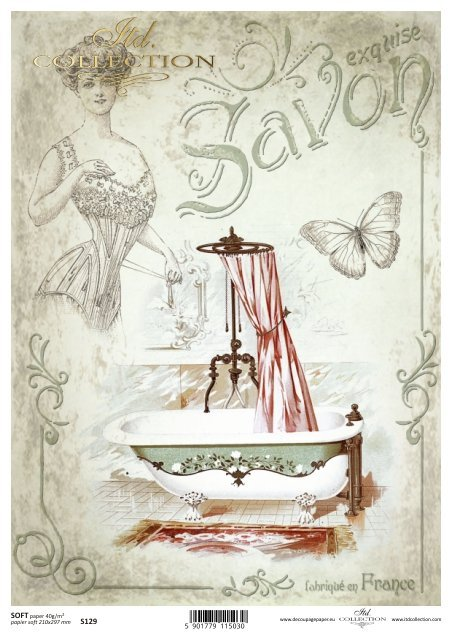Decoupage paper Soft ITD S0129