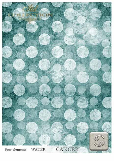 Papiery do scrapbookingu w zestawach - cztery żywioły-woda*Papers for scrapbooking in sets - four elements-water
