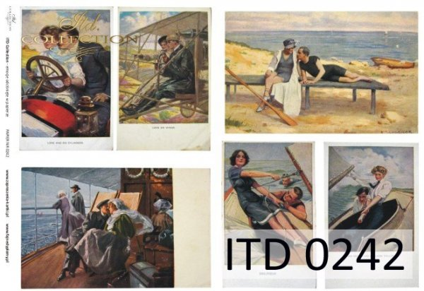 Decoupage paper ITD D0242M