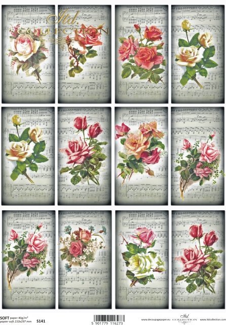 Decoupage paper Soft ITD S0141