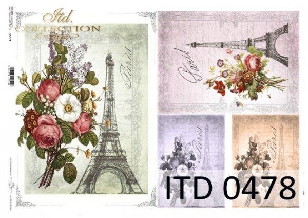 Decoupage paper ITD D0478M