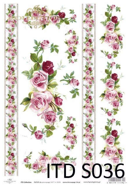 Decoupage paper Soft ITD S0036
