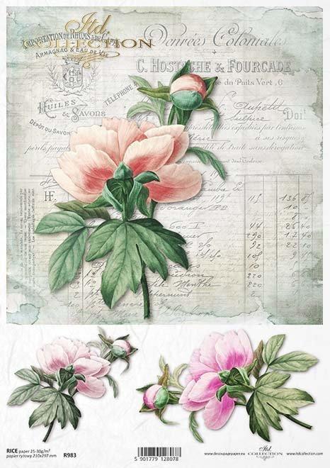 Rice paper r983 decoupage paper flowers peony rice paper r0983 mightylinksfo