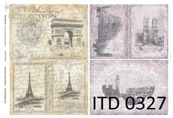 Decoupage paper ITD D0327M