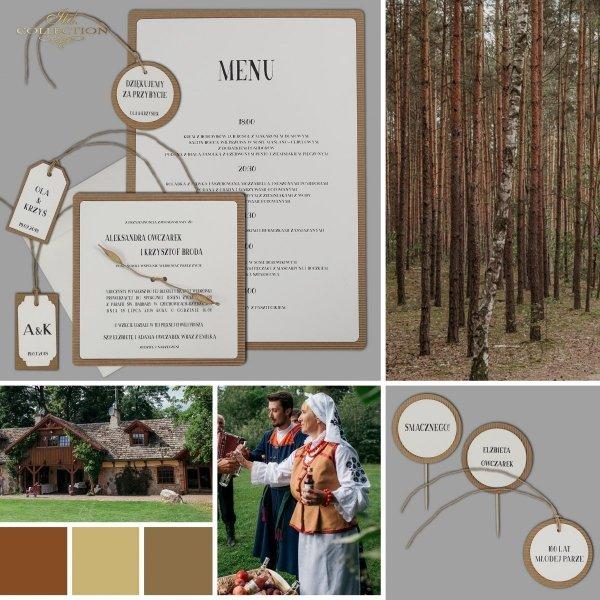 Zaproszenia ślubne*zaproszenia w stylu EKO*dodatki ślubne*winietki*menu