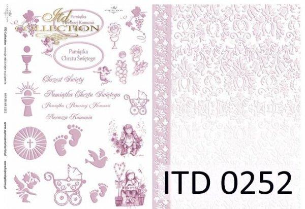 Decoupage paper ITD D0252M