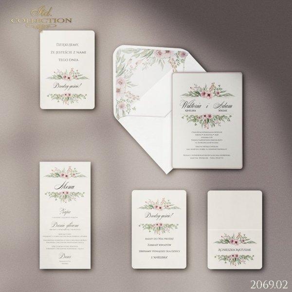 Zaproszenie 2069 * Zaproszenia ślubne * menu * winietka * koperta - wersja 2