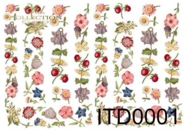Decoupage paper ITD 0001M