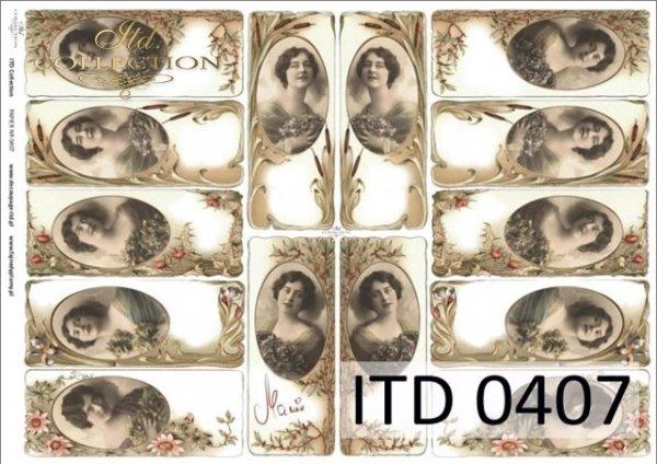 Decoupage paper ITD D0407M