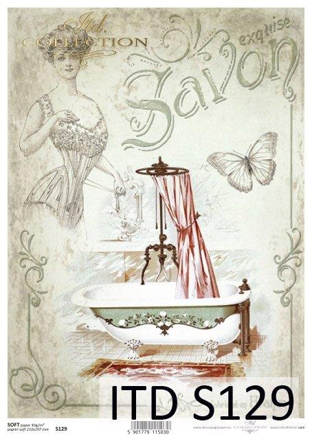 Decoupage paper Soft ITD S0129