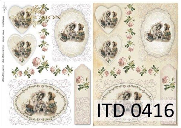 Papier decoupage ITD D0416M