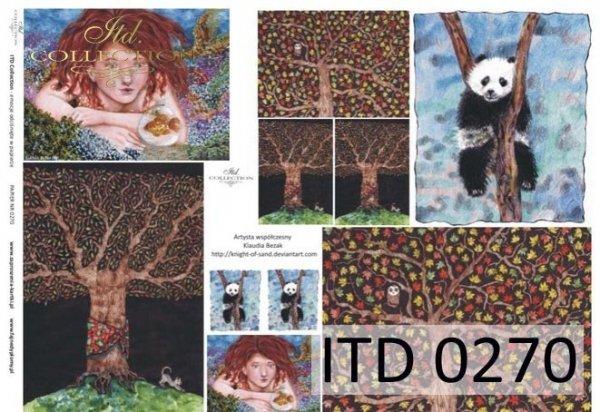 Papier decoupage ITD D0270