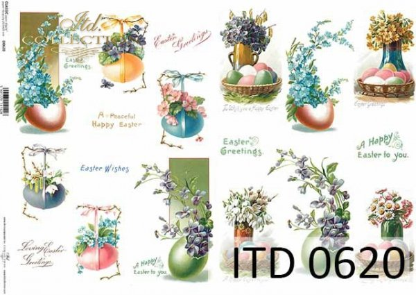 Papier decoupage ITD D0620