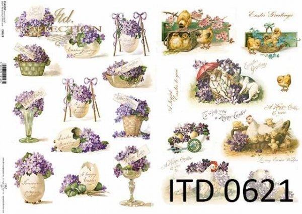 Papier decoupage ITD D0621