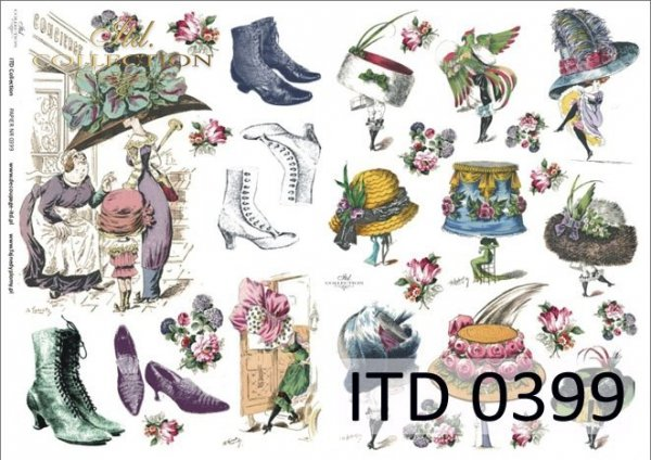 Papier decoupage ITD D0399M