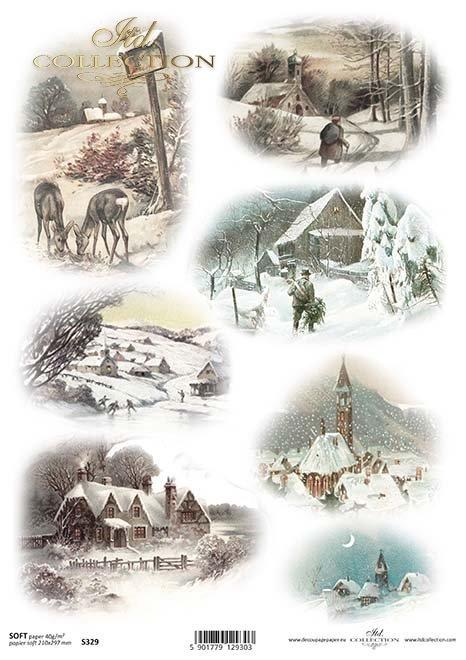 El decoupage de papel festivo, invierno*Papír decoupage slavnostní, zima*Das Papier decoupage festlich, winter