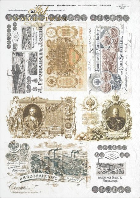 banknote, old banknotes, coin, old coins, Tsarist Russia, R372, Lodz, Lodz, The Museum of Lodz