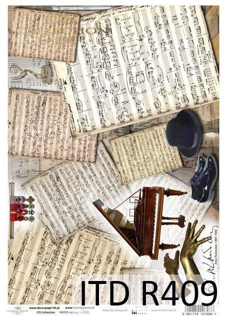 Artur Rubinstein, nuty, fortepian, dłonie, R409, Łódź, Lodz