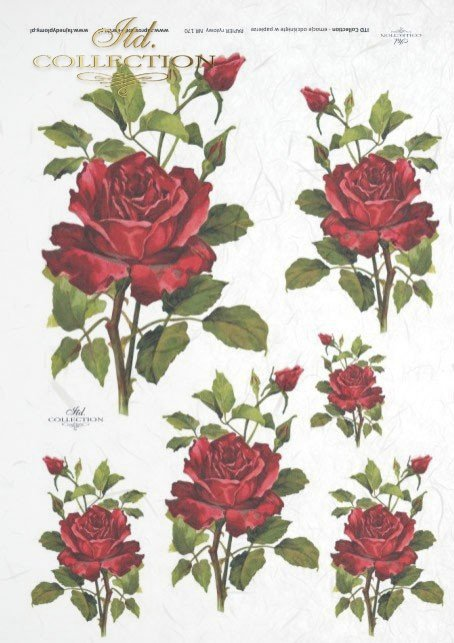 ITD Collection, decoupage, scrapbooking, mixed media, rose, roses, flowers, R0170